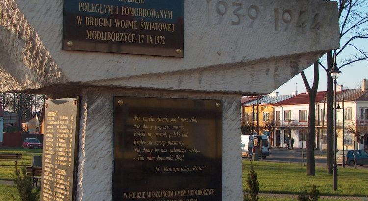 Modliborzyce pomnik
